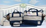 Premium Nappy Bag Baby Organiser Bags in Small Dark Navy Design