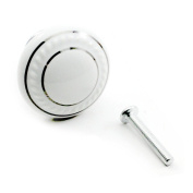 DDU(TM) 1Pc White Ceramic Round Cupboard Wardrobe Door Drawer Knob Pull Handle