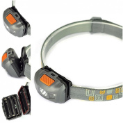 First-class 300LM 4 Modes Mini LED Headlamp Headlight Super Bright Torch Colour Grey and Orange