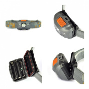 Tip-top 300LM 4 Modes Mini LED Headlamp Headlight Flahlight Waterproof Colour Grey and Orange