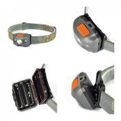 Optimum 300LM 4 Modes Mini LED Headlamp Flahlight Headlight Waterproof Colour Grey and Orange