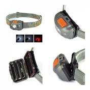 Smashing 300LM 4 Modes Mini LED Headlamp Waterproof Torch Super Bright Colour Grey and Orange