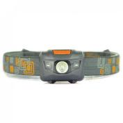 Zenith 300LM 4 Modes Mini LED Headlamp Super Bright Headlight Flahlight Colour Grey and Orange