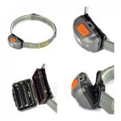 Optimal 300LM 4 Modes Mini LED Headlamp Flahlight Waterproof Headlight Colour Grey and Orange