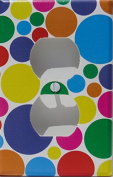 Rainbow Polka Dot Outlet Switch Plates Covers in Pink, Purple, Blue, Red, Green Yellow, and Orange Dots