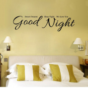 Art Wall Stickers Sweet Dreams Good Night DIY Home Decorations Wall Decals Living Room Quote 9314