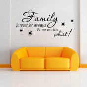 Aiwall 9311 Wall Sticker Decal Mural Self Adhesive Paper Art Deco - Family ,no matter what