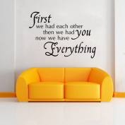 Art Wall Stickers We Had Each Other DIY Home Decorations Wall Decals Living Room Quote 9308