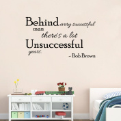 Aiwall 9306 Art Wall Stickers Successful Man DIY Home Decorations Wall Decals Living Room Quote