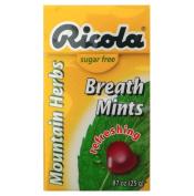 Sugar Free Ricola Breath Mints-Mountain Herbs flavour
