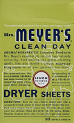 Mrs. Meyer's Dryer Sheets, Lemon Verbena 80.0 PC