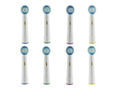 8x Generic Oral-b Brush Heads Compatible with the Entire Lineup of Oral-b Rechargeable Handles, Except for Oral-b Sonic Toothbrushes