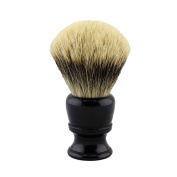 26mm Knot Black Resin Handle Finest Badger Hair Shaving Brush