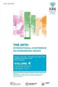 Proceedings of the 20th International Conference on Engineering Design (Iced 15) Volume 4