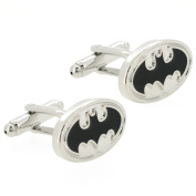 Black and Silver Batman Superhero Cufflinks