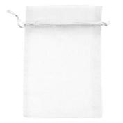 50pcs 15cm x 23cm Sheer White Organza Drawstring Pouches Gift Bags Jewellery Holder