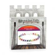 Weave Got Maille Rainbow Double Orbital Barrel Chain Maille Bracelet Kit