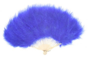 Zucker Feather Products Large Marabou Feather Fan, Royal Blue
