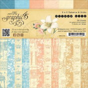 Graphic 45 Double-Sided Paper Pad 15cm x 15cm 36/Pkg-Gilded Lily, 3Ea Of 12 Prints & Solids