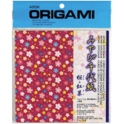 Aitoh Blossom and Maple Leaves Origami Paper, 15cm by 15cm , 40-Pack