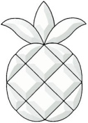 Clear Glass Pineapple Bevel Cluster - Clear Glass - 15cm - 1cm x 23cm