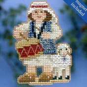 Mill Hill Winter Holiday Ornament Counted Cross Stitch Kit w/ Glass Beads & Treasure Drummer Boy MH184305