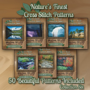 Nature's Finest Cross Stitch Patterns - Collection Six - 50 Beautiful Landscape / Scenery Cross Stitch Designs on CD