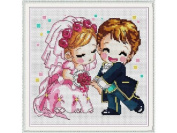 Happy Forever Cross Stitch,cartoon, A romantic wedding