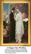 A Flapper Style Wedding, Vintage Counted Cross Stitch Pattern
