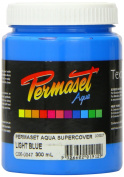 Super Cover Screenprinting Ink - Light Blue Permaset Aqua Fabric Magic 300ML