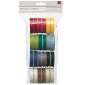 American Crafts Value Pack Hemp Twine, 5-Yard, 12-Basic Colours, 24-Pack