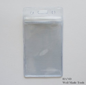 NO.107 Clear Vertical ID Badge Card Holder 65mmWx 115mmL, 50 per Pack