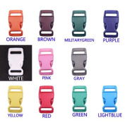 11pcs 5/8 Colourful Contoured Side Release Plastic Buckles