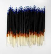 CHENGYIDA 100-PACK Washable/erasable Ink Leathercraft Cross Stitch Fabric Mark Pen Refill , Black
