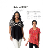 Butterick Patterns B6187WMN Misses'/Women's Top Sewing Template, WOMAN
