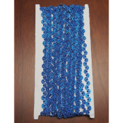 Royal Blue Wave Rhinestone Trim Strand, 7mm, 10-yard