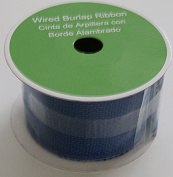Royal Blue Wired Burlap Ribbon Spool - 6.4cm x 4.6m