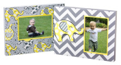 Chevron and Print Elephants Wood 4X6 Picture Frame Set of Two