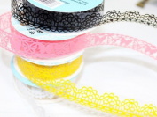 10 Rolls Adhesive Decorative Sticker Paper DIY Sticky Stationery Lace Tape