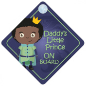 BDLP007 Daddy's Little Prince On Board Car Sign New Baby / Child Gift / Present / Baby Shower Surprise
