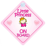 Little Princess On Board Car Sign New Baby / Child Gift / Present / Baby Shower Surprise
