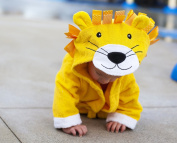 Baby-Steps, Yellow Lion Hooded Bathrobe and Towel, 0-12 Months, Bath Robe Baby Shower. Gift Box with Purchase!