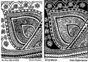 FlexiStamps Texture Sheet Set Pretty Paisley Designs (Including Pretty Paisley and Pretty Paisley Inverse)- 2 pc.