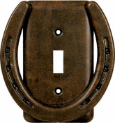 Metal Horseshoe Single Switch Cover by Rivers Edge 1298