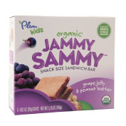 Plum Kids Organic Jammy Sammy Snack Size Sandwich Bar, Grape Jelly & Peanut Butter 150ml (145 G) Pack of 2