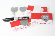 Scratch Off LoveNotes DIY Lunchbox Notes and Love Notes Scratch-Off Mini Cards Kit