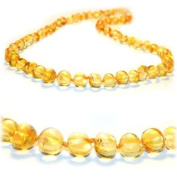 Baltic Amber Teething Necklace 32cm for Teether Relief Babies Boy Girl (Unisex) - Baby, Infant, and Toddlers will all benefit. Anti-inflammatory, & Drooling. Natural Certificated Oval Round Baroque, Pain Reduce Properties - Natural Baltic Jewelr ..
