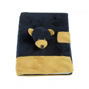 Plush Notebook - Black Bear