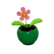 TOOGOO(R) Solar Powered Dancing Flower - Green Base
