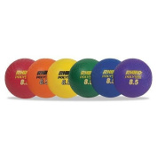 CHAMPION PX85SET Rhino Playground Ball Set, 22cm Diameter, Rubber, Assorted, 6 Balls/Set